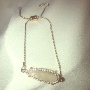 Charming Charlie chain adjustable closure crystal